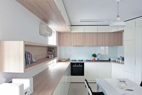 简约风格白色厨房装修效果图欣赏