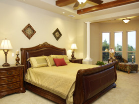 新古典风格黄色复古卧室图片欣赏