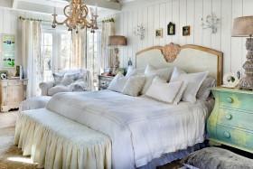 诗意白色美式风格卧室设计欣赏