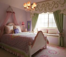 梦幻少女粉色美式卧室设计案例