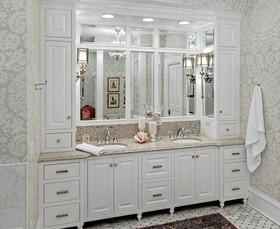 浪漫白色欧式风格浴室柜设计装潢