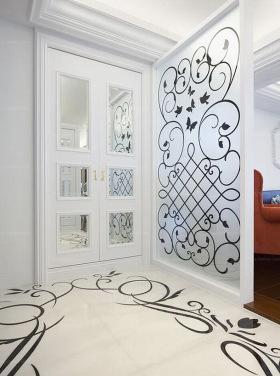 时尚白色现代隔断装饰图