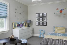 创意混搭白色儿童房装修效果图