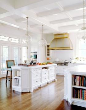 简欧浪漫白色厨房效果图
