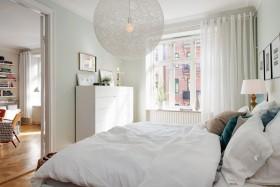 宜家风格白色卧室图片赏析