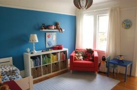 创意混搭蓝色儿童房装饰设计图片