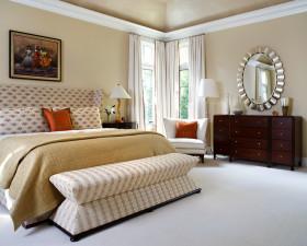 美式浪漫米色卧室设计