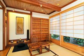 日式休闲黄色榻榻米装饰图
