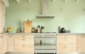 清新绿色简约风格厨房设计图片