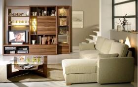 极简米色休闲客厅装修设计