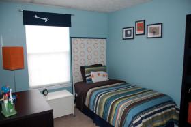 创意混搭蓝色卧室赏析