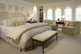 白色时尚简约风格卧室装修效果图片