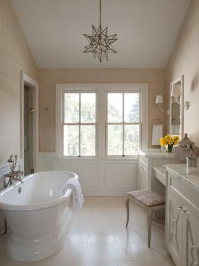 简欧风格时尚白色卫生间装修效果图片
