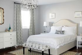 浪漫白色简欧风格白色卧室欣赏