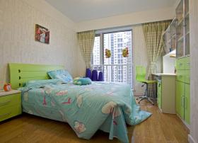 混搭风格卧室窗帘效果图设计