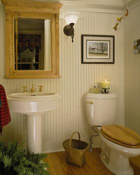 田园清新白色卫生间装潢案例
