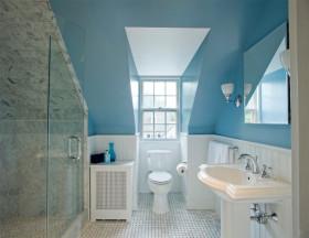 梦幻蓝色简约风格卫生间装潢设计