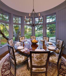新古典风格灰色雅致餐厅图片欣赏