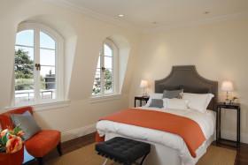 白色欧式休闲卧室效果图