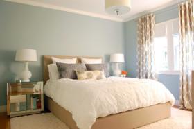 简约时尚蓝色卧室赏析