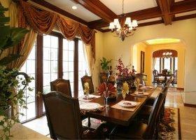 美式风格温馨黄色餐厅设计装潢