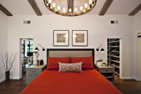 创意混搭风格白色卧室装修图