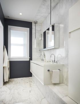 简约时尚白色卫生间浴室柜设计装潢