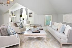 浪漫白色简欧风格客厅装潢设计