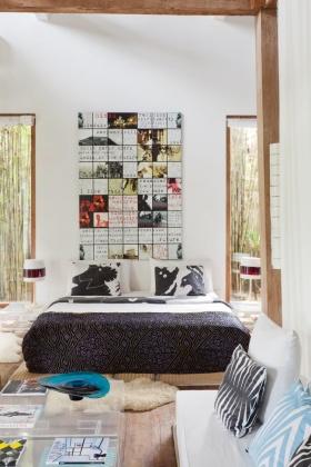 创意混搭白色卧室背景墙美图欣赏
