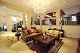 欧式黄色雅致客厅设计图片