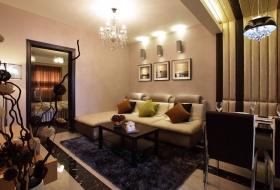 米色时尚现代风格客厅装饰设计图片