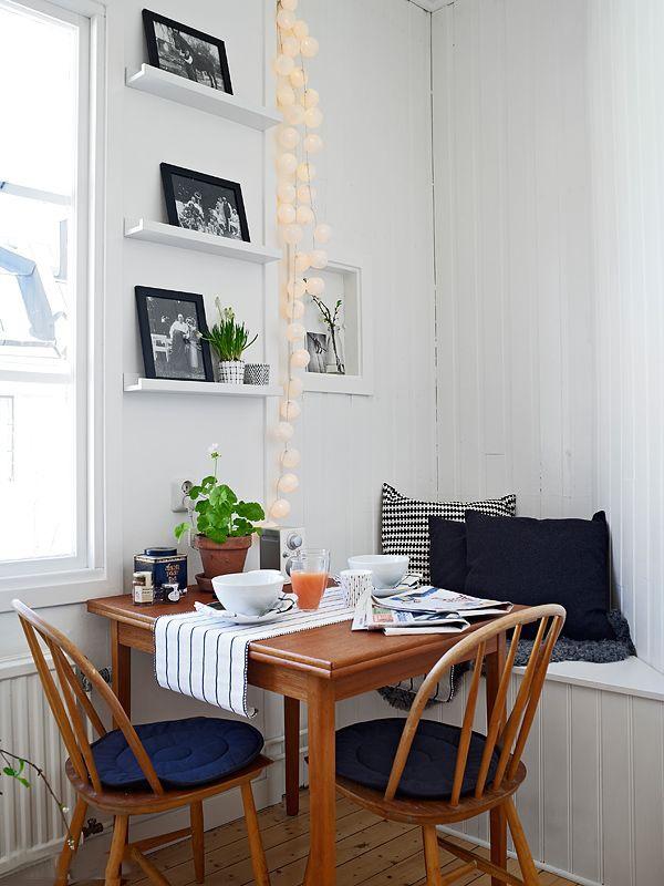 宜家风格白色休闲餐厅装修效果图