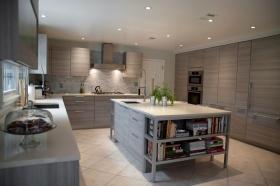 简约风格灰色厨房装修效果图
