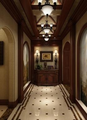 欧式客厅米色雅致吊顶效果图