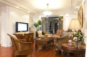 美式风格米色客厅背景墙赏析