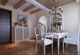 田园风格清新白色餐厅效果图设计