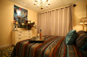 欧式风格雅致黄色卧室设计赏析