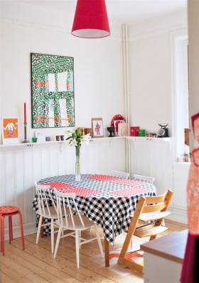清爽白色田园风格餐厅美图欣赏