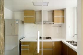 现代时尚白色厨房橱柜设计图
