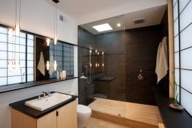 中式风格灰色卫生间隔断图片