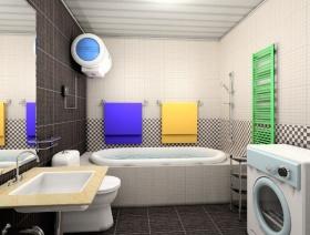 创意混搭白色卫生间美图