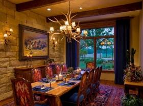 新古典风格黄色餐厅背景墙美图欣赏
