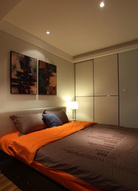 现代风格米色卧室背景墙赏析