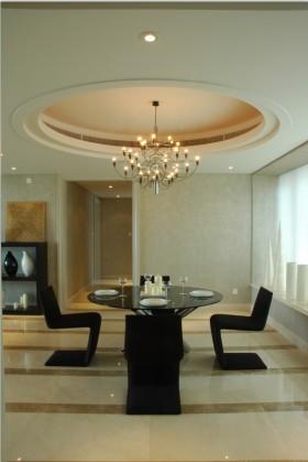 温馨米色现代风格餐厅效果图设计