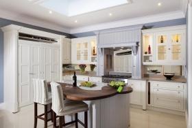 简欧白色厨房橱柜装修效果图片