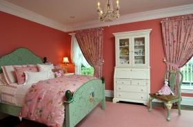 美式风格粉色少女儿童房装修效果图
