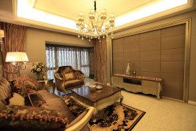 新古典风格褐色客厅设计图