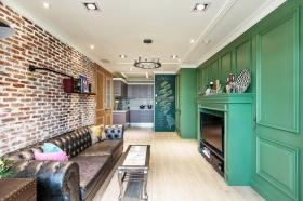 绿色混搭客厅设计装潢图片赏析