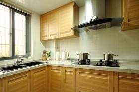 黄色简约风格厨房效果图设计