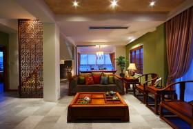中式橙色客厅效果图欣赏